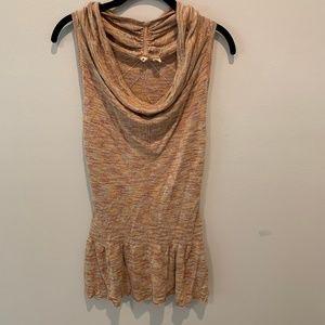 Anthropolgie/Moth Cowl/Scoop Neck Ruffle Dress